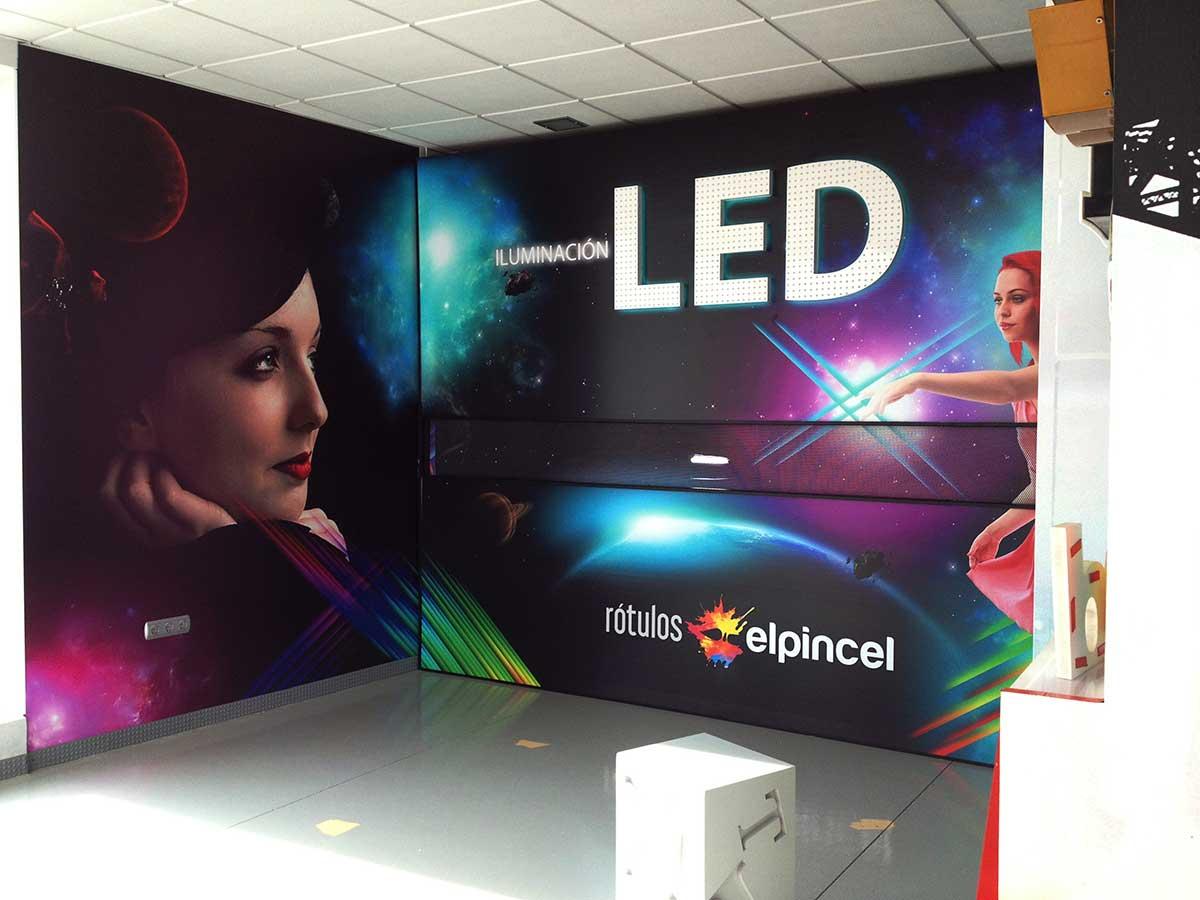 Exposición de iluminación LED