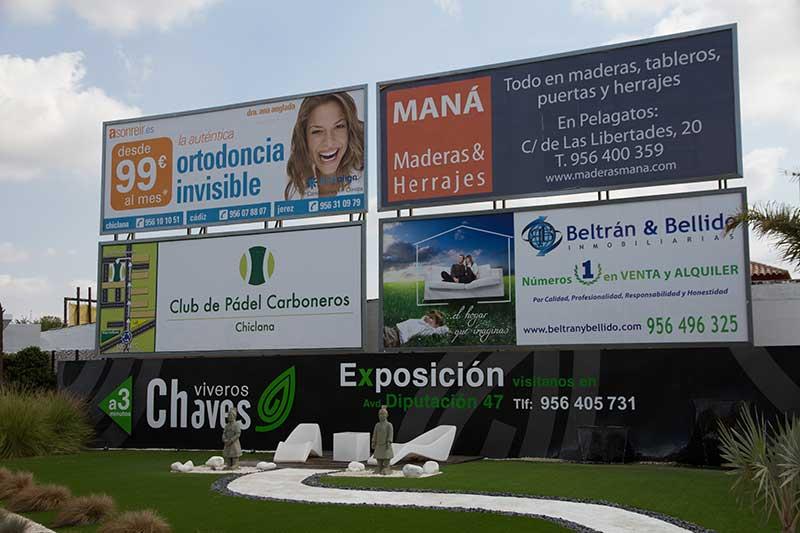 Vallas Publicitarias en Chiclana Cádiz, Andalucía